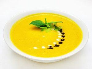 Тыквеный крем-суп с крутонами