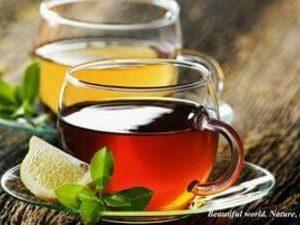 Черный или зеленый чай + лимон или молоко